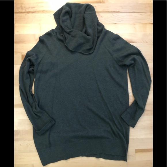 LOFT Sweaters - Loft large cowl neck green sweater